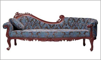 re-upholstered chaise longue